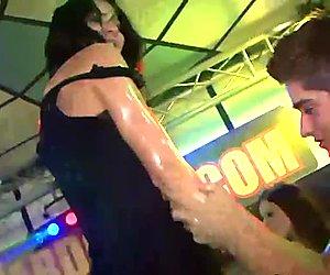 Teen sluts facialized at party