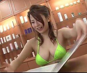 Busty Yuki Aida blows cock in POV manners