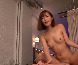 Assfucked asian model shows her anal creampie
