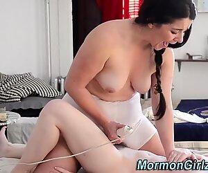 Amateur mormon eats lez