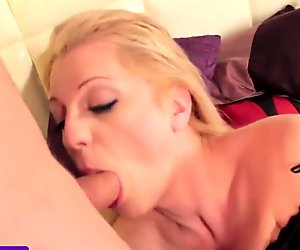Busty tgirl cocksucking before assfucked