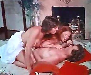 Bosomy ginger slutty gal and kinky brunette wanna ride strong cock (FFM)