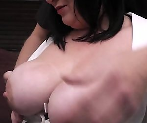 Meeting with plump brunette leads to sex