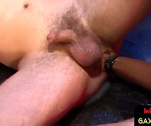 Ginger jock moans for rough ass fisting