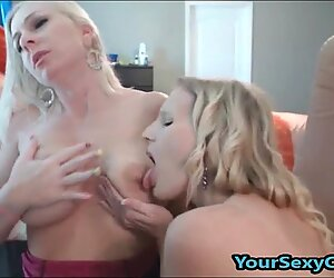 Blonde Lesbian Milfs Enjoys Toying And Licking Each Other