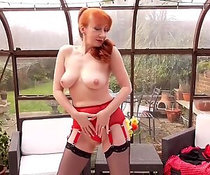 super-cute mature mother feeding her vag