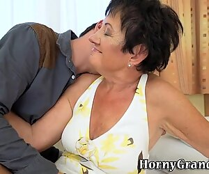 Fingerfucked granny sucks