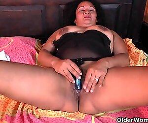 Latina milfs Sharon and Laura need a masturbation break