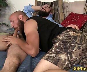 Horny gay bear riding