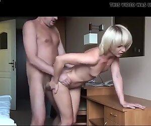 Skinny blonde wife is getting laid