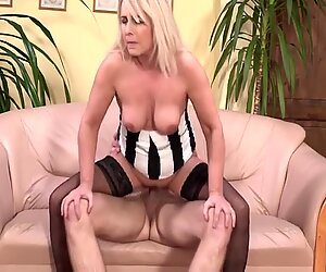 Granny having sex with young toy boy