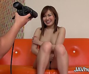 JAVHUB Shy Japanese babe Rika Sakurai gets fucked
