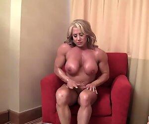 Blonde Mature Muscle Maven Display her Big Clit