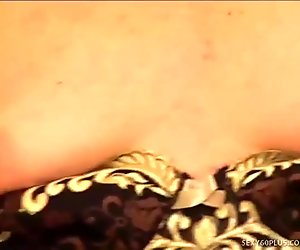 MILF In Stockings Gulps Down Hot Jizz