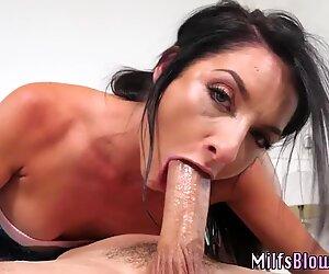 Milf sucking on big dong