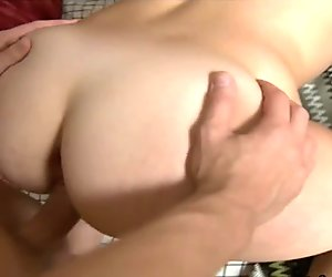 Hot young couple having sex in dressroom