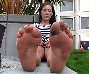 Dirty Feet On Street