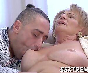 Seductive grandma bj's a pulsating dick before hard fucking