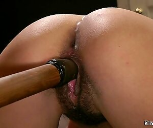 Mistress spanks and anal fucks babe
