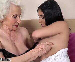 Sexy Teen Fucks With Her Old Lesbian Teacher