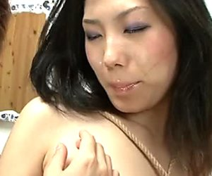 Divine Japanese babe Yui Komine gets her fresh cunt tongue fucked hard