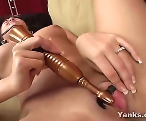 Sexy Carmen playing her pussy with a vibrator