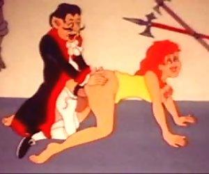 Engraçado e estranho vintage desenho animado sex clips