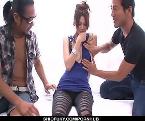Ameri Ichinose gets a humungous trunk to work her lil' - More at Pissjp.com