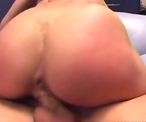 Brunette beauty Alektra Blue rides cock and fucks doggystyle