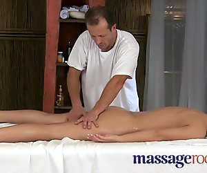 Massage Rooms Virginal juvenile clits are aroused by aged