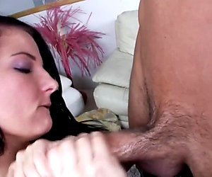 Amateur beauty jerks cock in sixtynine pose