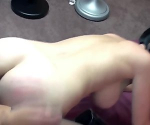 Melissa Swallows takes a strapon in her twat