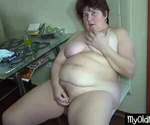 Grandma learns hot to use dildo