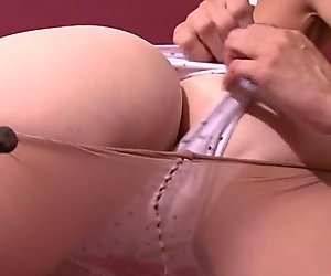 Tied up gf is used by lesbian mommy
