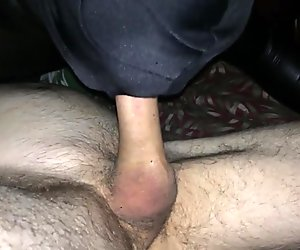 Deep throat for daddy huge cock