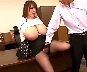 Boss must see her huge tits right away