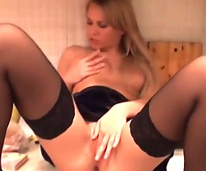 Sexy student girl drilled on the kitchen table