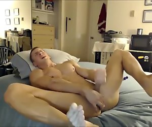 Straight guy tries his new toy