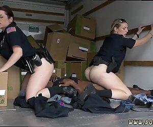 Milf bound gangbang and ass Black suspect taken on a tough ride