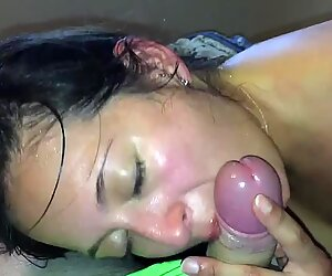 Amazing Blowjob by Young Laina at Home Amateur Couple