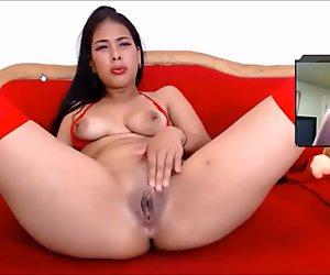 A masturbating little cunt #1
