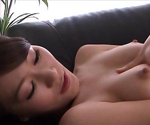 Stunning asian milf fingering her vagina