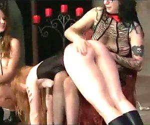 Lesbian Femdom Threesome Domination