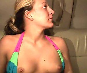 College girls having fun in this video