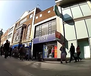 Street voyeur upskirt video