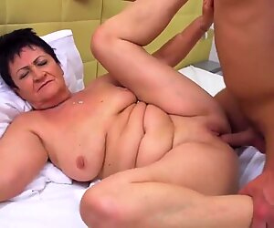 grandmother having fucky-fucky with youthfull boy in hotel