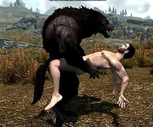 Gay Werewolf and Human: Holding Fuck
