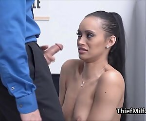 Ass fucking stealing Latina MILF in the office