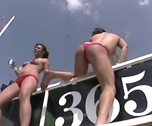 Hotdog Ass Stuffing Party Girls on Spring Break
