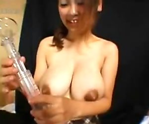 Busty Asian With Milky Tits